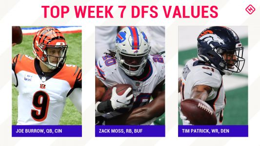 Week 7 NFL DFS Picks: Best value players, sleepers for FanDuel, DraftKings daily fantasy football lineups