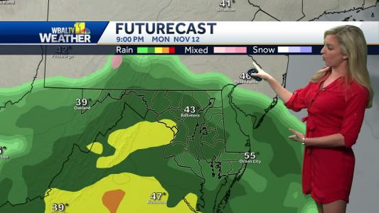 Rain moves in to Maryland tonight