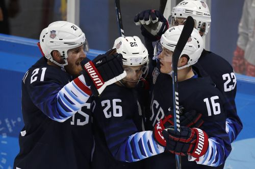 US men's hockey team staves off elimination with huge win