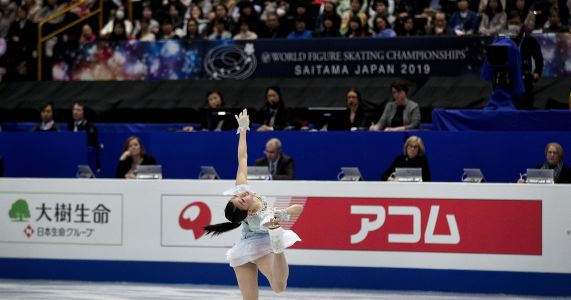 Zagitova leads short program at figure skating worlds