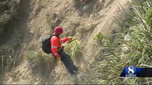 Cable snaps as crews try to lift Jeep up Big Sur cliff