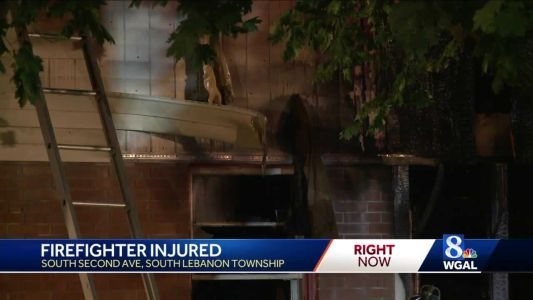 Family displaced by fire in Lebanon