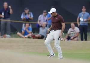 McIlroy loses ground with tough finish at British Open