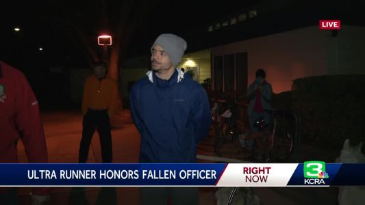 Davis man sets out on 224-mile run to honor fallen officer's badge number