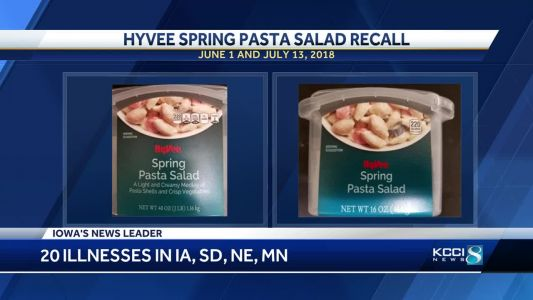 Hy-Vee recalls spring pasta salad after reported illnesses