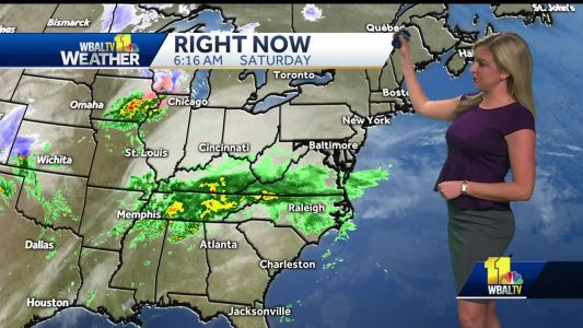 Showers Move In Saturday Afternoon