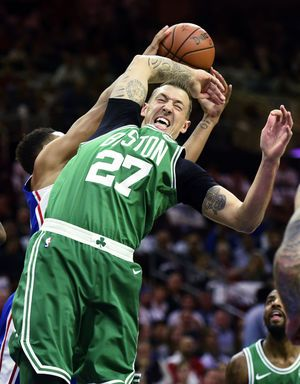 Irving, Horford lead Celtics past 76ers for 1st win