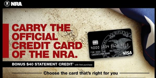 Website advertising the 'official credit card of the NRA' disappears