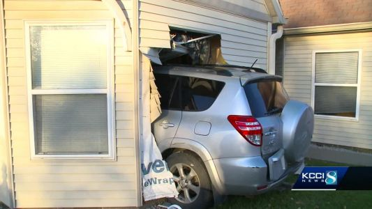 84-year-old DSM man displaced after car crashes into home