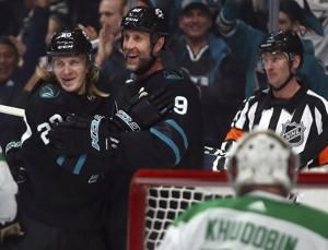 Meier scores 2 goals to lead Sharks past Stars 3-2