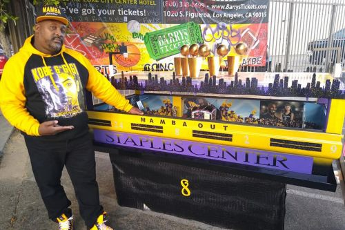 Fan builds designer Staples Center casket for Kobe Bryant tribute