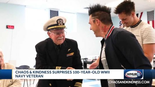 Recycled Percussion surprises Navy veteran with gift