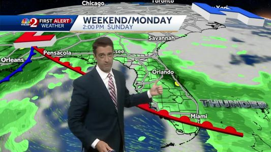 Periods of rain and a few storms this weekend