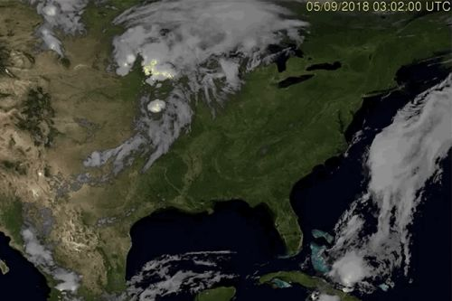 Satellites capture time-lapse of lightning moving across the US