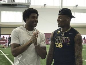 James spends Florida State's Pro Day mostly on sidelines