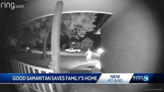 'What a hero': Iowa man uses Ring camera to tell family their home was on fire