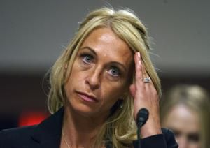 The Latest: Former USA Gymnastics president takes the Fifth