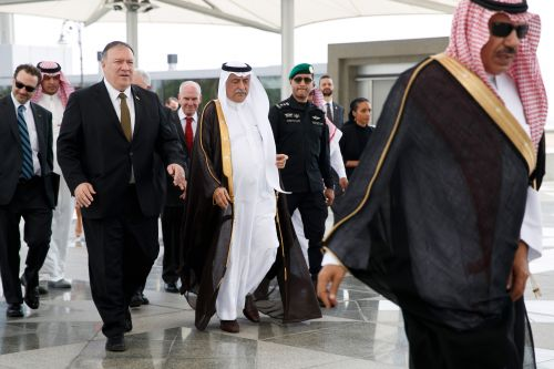 Mike Pompeo arrives in Saudi Arabia as Iran threatens US drones