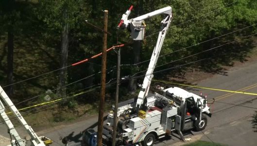 Officials: Utility worker rushed to trauma center after suffering shock, falling 35 feet