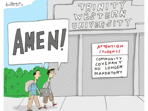 Still seeking law school, Trinity Western drops sexual 'covenant' for students