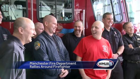 Firefighters cut hair, raise money for colleague with cancer