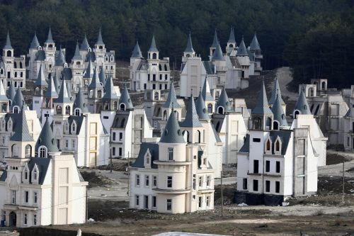 There's a $200 million abandoned village of Disney-like castles in Turkey. Take a look inside