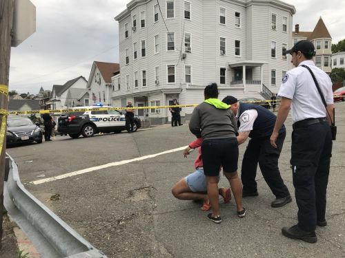 'My son. My son.' Mother emotional at scene of deadly Lynn shooting