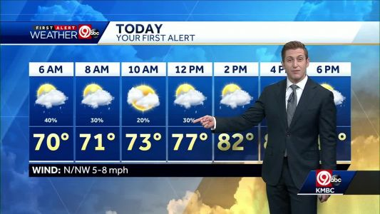 First Alert: Expect off-and-on rain showers Wednesday