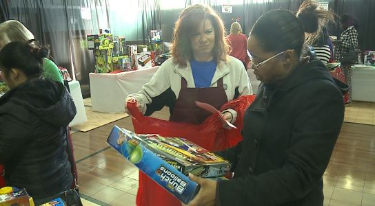 Salvation Army gives toys to families in need for Christmas