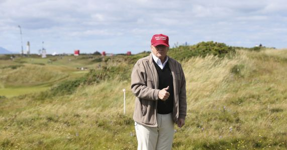 Trump back in Scotland ahead of Putin talks