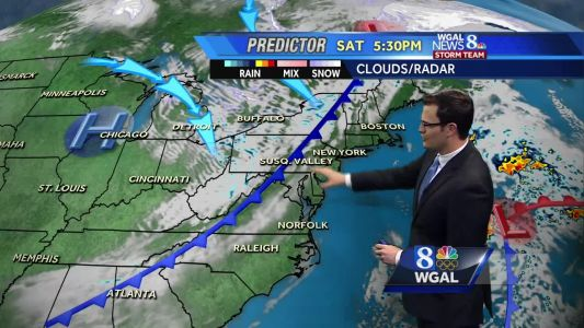 Showers possible Saturday, then cooler and windy for Sunday