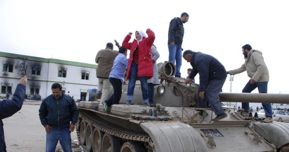 Libyans, to varying degrees, celebrate 2011 uprising