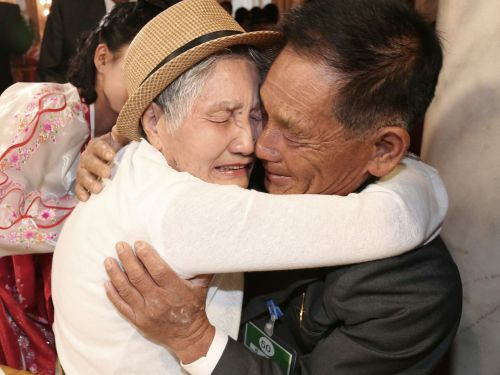 A Korean mother and son were reunited after six decades apart