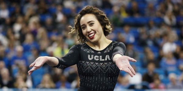 UCLA gymnast sends crowd, internet into a frenzy with Michael Jackson themed floor routine
