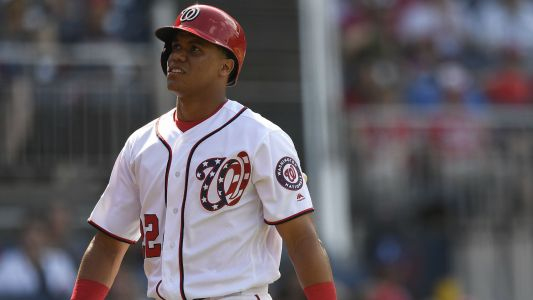 Nationals' Juan Soto hits home run in second career at-bat