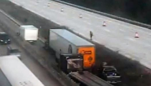 Truck collision shuts down I-85 northbound
