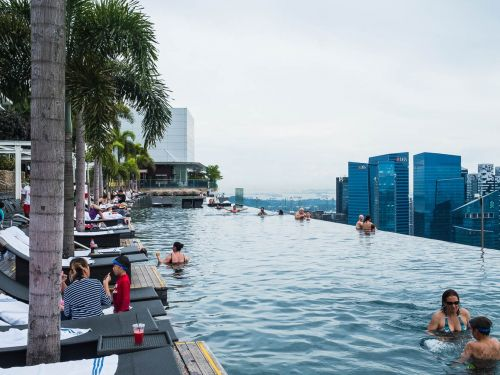 I stayed in the $6.6 billion mega-hotel in the heart of Singapore, and it wasn't anything like 'Crazy Rich Asians'