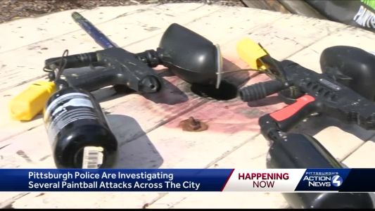Pittsburgh police looking for drive-by shooters using paintball guns