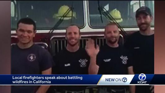 New Mexico Firefighters help with Mendocino Complex fire