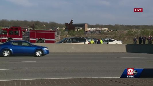 I-435 NB shut down at Bannister after shooting, multiple crashes during rush hour