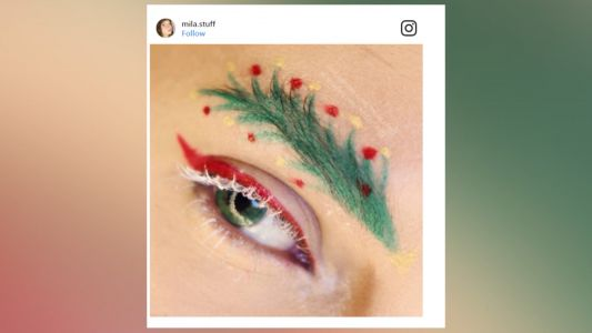 Christmas tree eyebrows are a thing