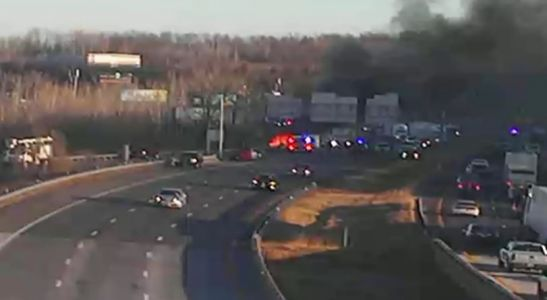 Serious injuries reported in fiery crash Tuesday on I-435 near 23rd Street