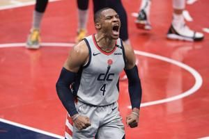 Westbrook lifts Wiz past Pels at line after Zion foul in OT
