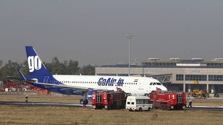 WATCH: Fire on GoAir passenger jet extinguished after emergency landing at Ahmedabad airport