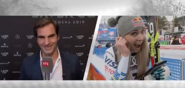 Roger Federer sent Lindsey Vonn a video message after the final race of her career, and she responded by telling him she loves him