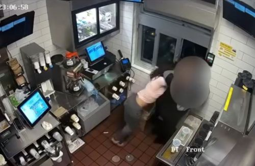 Caught on camera: Woman attacks McDonald's employee in row over k