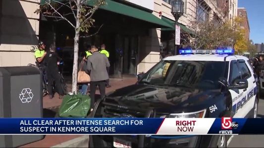 All clear after police chase man to Kenmore Square