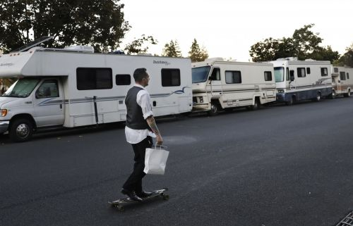 Two years after angry Silicon Valley locals chanted 'build a wall' to keep the homeless out, the city is reportedly cracking down on a growing RV camp outside Google's HQ