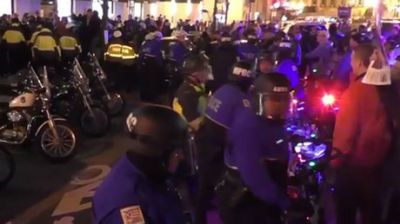 DC police teargas DeploraBall protesters