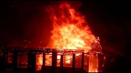 Officials say fire in Rohingya refugee camp in Bangladesh has destroyed hundreds of homes. No casualties are reported